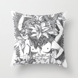Suture up your future Throw Pillow
