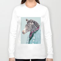zebra Long Sleeve T-shirts featuring Zebra by Animal Crew