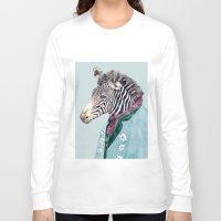 zebra Long Sleeve T-shirts featuring Zebra by Animal Crew