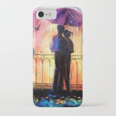 Lovers in the rain Slim Case iPhone 8