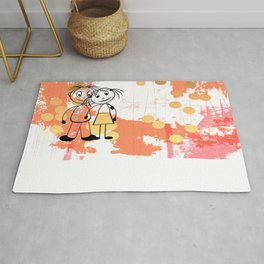 Beste Freunde - best friends Rug