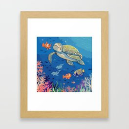 Under the Sea and Above the Coral Framed Art Print