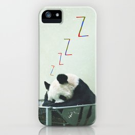 Sleepy Panda iPhone Case