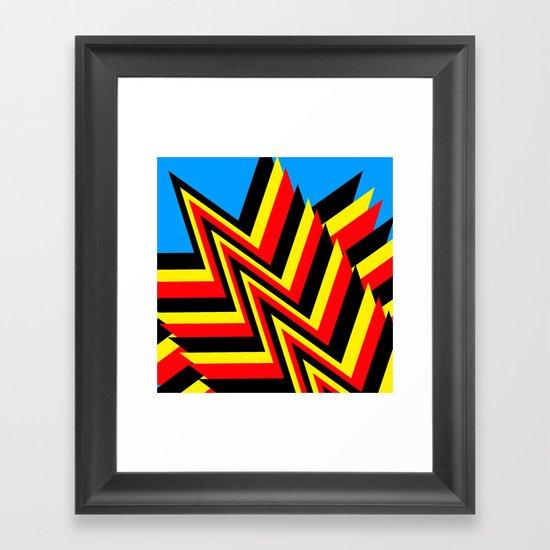 Swishy-Swashy Framed Art Print