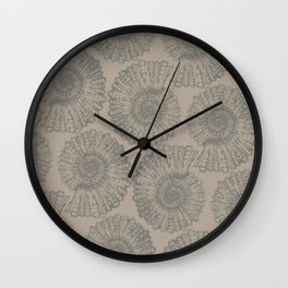 ammonite I pattern Wall Clock