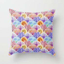 Ocean Pattern Collection 4 Throw Pillow