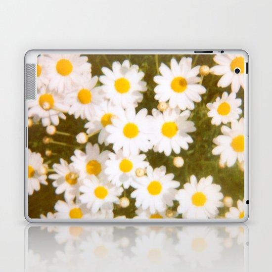 Daisies Retro Polaroid Print Laptop & iPad Skin
