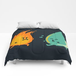 Impossible Love (fire and water kiss) Comforters
