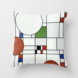 Abstract Composition 425 Throw Pillow