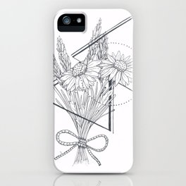 Daisies and Lavender iPhone Case