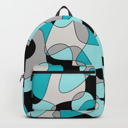 Abstract pattern - black and blue. Backpack
