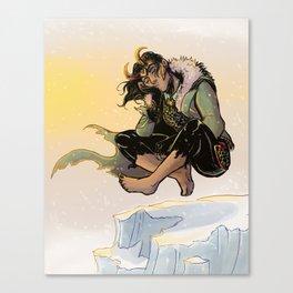 Catnapping Loki Canvas Print