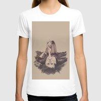 smoke T-shirts featuring smoke by Andreea Red