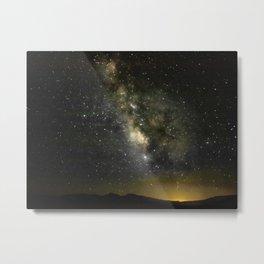 Stars Over the Black Rock Desert Metal Print