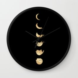 Cat Landscape 57: Phases of the Meow Wall Clock