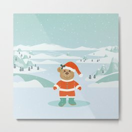 AFE Winter Teddy Bear Metal Print