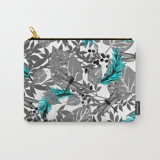 PALM LEAF DRAGONFLY BLUE Carry-All Pouch