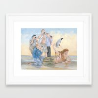 celebrity Framed Art Prints featuring Celebrity by Mermaids