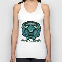 the cure Tank Tops featuring No Cure For Ugly by Gene S Morgan