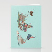 louis armstrong Stationery Cards featuring Louis Armstrong Told Us So (teal) by Bianca Green
