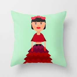 Lady doll Throw Pillow