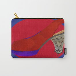 Red Metal Sling Carry-All Pouch