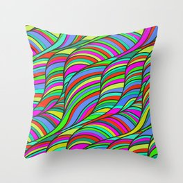 waves of colors  Throw Pillow