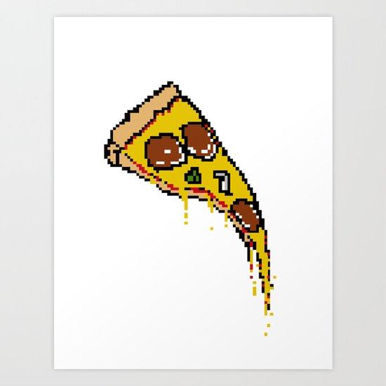 Pizze Slice Art Print