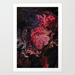 The Velvet Dress Art Print