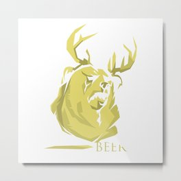 Mac's BEER Metal Print