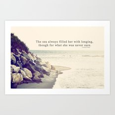 Filled with Longing Art Print