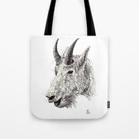 goat Tote Bags featuring Goat by Ursula Rodgers