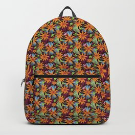 Golden daisy floral jungle pattern Backpack