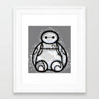 baymax Framed Art Prints featuring Baymax by grapeloverarts