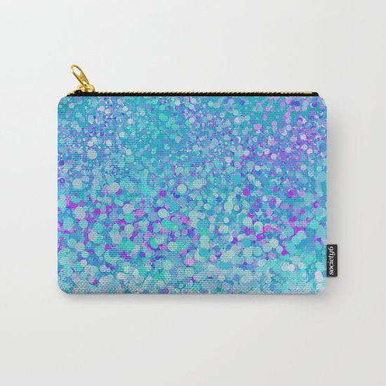 Turquoise fiesta dots Carry-All Pouch