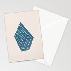 Geode I - in Sapphire Stationery Cards