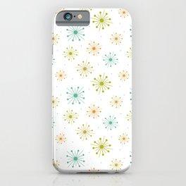 Mid Century Starburst Fireworks Pattern iPhone Case