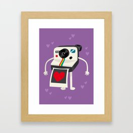 I Love Polaroid Framed Art Print
