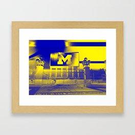 Michigan Stadium Framed Art Print