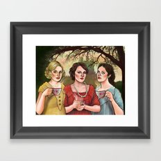 The Crawley Sisters Framed Art Print