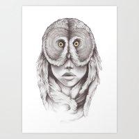 Owlhead Art Print