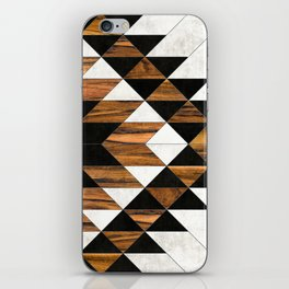 Urban Tribal Pattern No.9 - Aztec - Concrete and Wood iPhone Skin