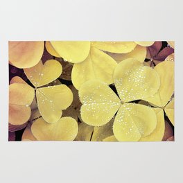floral leaves Rug