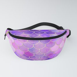 Ultra Violet & Gold Mermaid Scale Pattern Fanny Pack