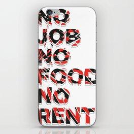 no no no iPhone Skin