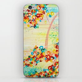 SUMMER IN BLOOM - Beautiful Abstract Acrylic Painting Vibrant Rainbow Floral Nature Theme  iPhone Skin
