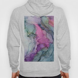 Enchanted Ethereal Forest Abstract Ink Painting Hoody