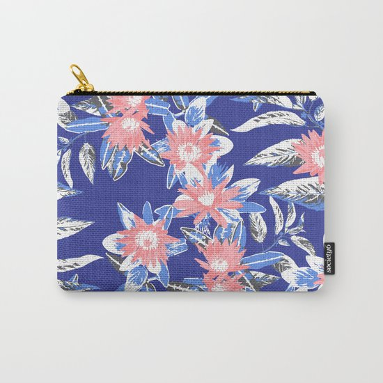 Vintage Flower Pattern Carry-All Pouch