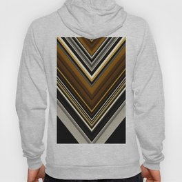 Retro Triangles Pattern in black, grey, yellow and brown Hoody
