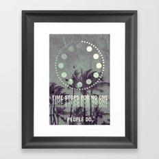 stop Framed Art Print